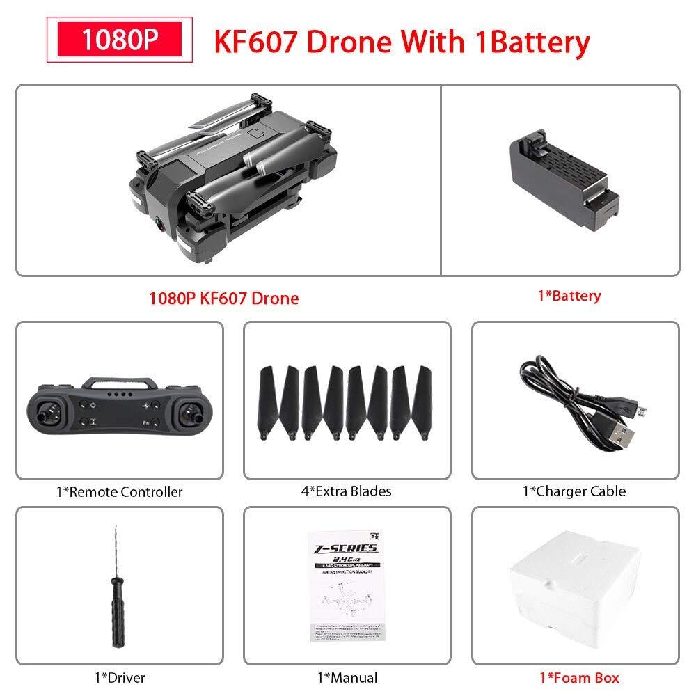 4k 1b With sac  ETC KART Le Plus récent 607 quadrirougeor avec WiFi FPV 4 K 1080 P HD Double caméra Flux Optique Selfie Drone Pliable Mini Dron VS SG106 visuo xs816 (1080P 2B Origin Box)