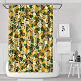 Yrung APU Nahasapeemapetilon Indian Kwik-E-Mart Operator Happiness Shower Curtains Sets Stylish Bathroom Window Curtain 71x71 Inch