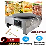 """Crepe Makers, 2.8KW 16"""" Commercial Crepe Pans Electric Crepe Maker Aluminum Griddle Hot Plate Cooktop with Adjustable Temperature Control and LED Indicator Light Single Griddle Hot Plate Pancake Making Machine"""
