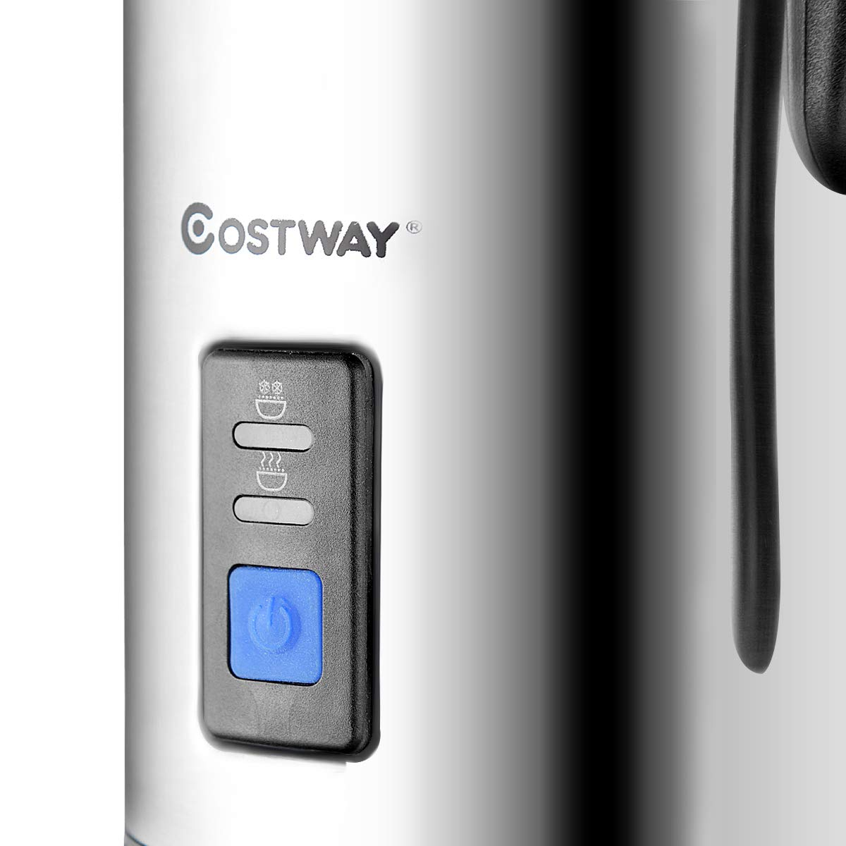 COSTWAY Milk Frother, Electric Automatic Stainless Steel,Non-Stick Interior, Milk Steamer Foamer for Coffee, Latte, Cappuccino with Handheld (Stainless-Update) by COSTWAY (Image #8)