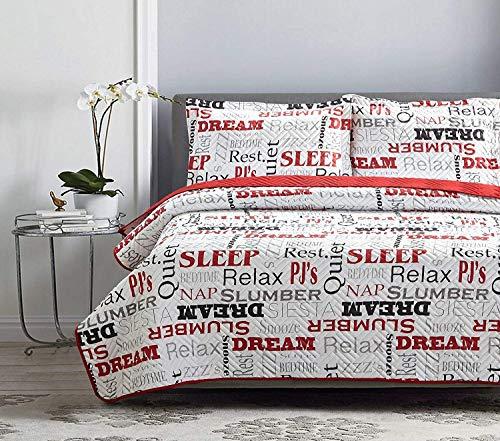 Elaine Karen Deluxe Herringbone Design Reversible - 1800 Premium Bedding Collection - Coverlet Quilt Set Bedspread – Twin Size – Relax Set