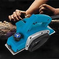 Cepilladora eléctrica de mano, fresadora eléctrica, cepillo de madera, 11000 rpm, 220 V, profundidad de cepillado, 1 mm, con marco afilador de hoja y…