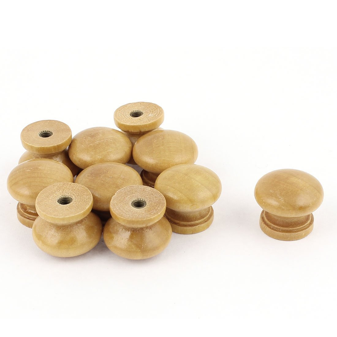 uxcell Drawer Cabinet Closet Wood Round Knob Pull Handle 23x19mm 10pcs SYNCE003842