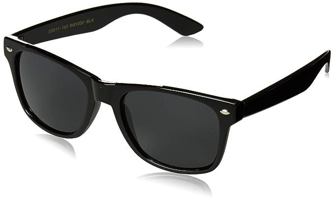 Gafas de sol retro años 80, montura clásica negra de pasta ...