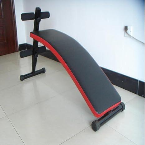 Multifunción bordo supina aparatos de ejercicios abdominales banca con mancuernas , black
