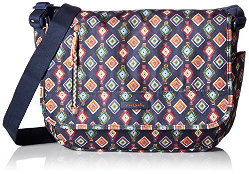 Vera Bradley Women's Lighten Up Laptop Messenger, Mini Medallions