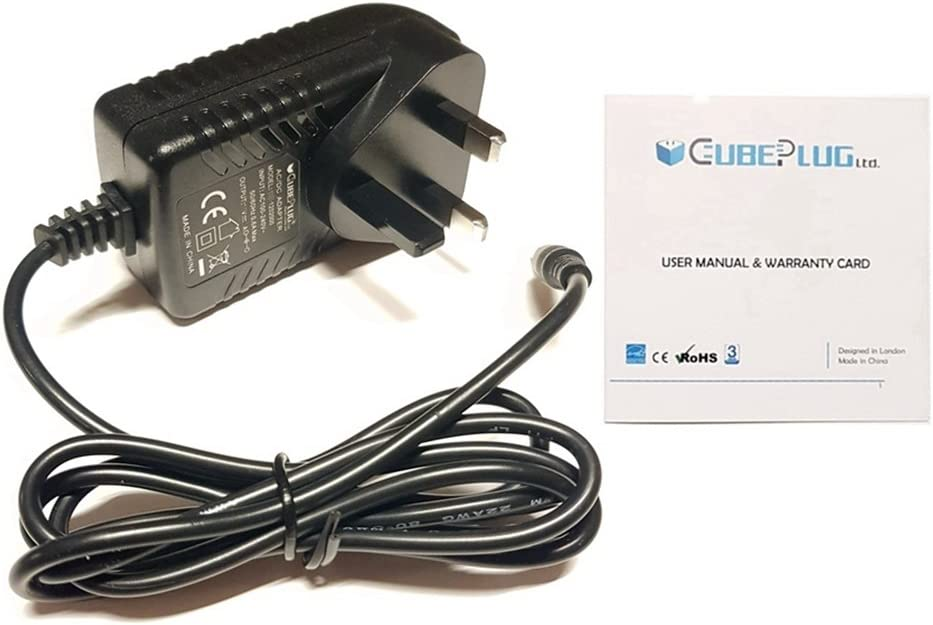CubePlug Replacement Power Supply for JVC DAB Digital Radio 9V 1.6A 14.5W RA-D51 UK