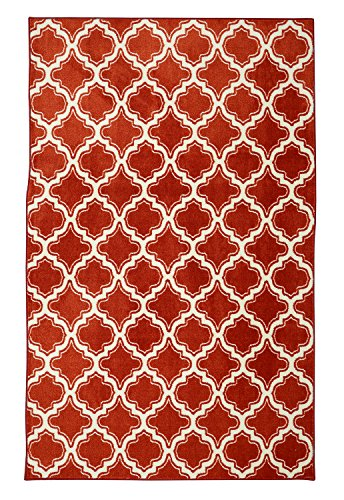Red Uno - Mohawk Home Aurora Calabasas Uno Red Geometric Printed Area Rug, 5'x8', Red