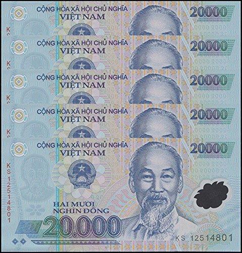 Vietnam 20,000 Dong X 5 Piece (PCS) = 100,000 Dong, P-120