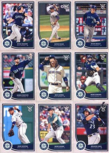 Seattle Mariners Team - 2018 Topps Big League Baseball Seattle Mariners Team Set of 14 Cards: Felix Hernandez(#8), Mitch Haniger(#54), Robinson Cano(#62), Jean Segura(#94), James Paxton(#137), Nelson Cruz(#144), Mike Leake(#156), Dee Gordon(#172), Mike Zunino(#223), Ichiro(#226), Ben Gamel(#237), Ryon Healy(#266), Kyle Seager(#277), Edwin Diaz(#376)
