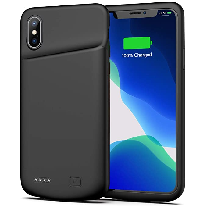 low priced 80d0f e2360 Battery Case for iPhone X/XS, 4000mAh Ultra Slim Protective Charging Case  Rechargeable Extended Battery Pack for 5.8 inch iPhone X/XS (Black)