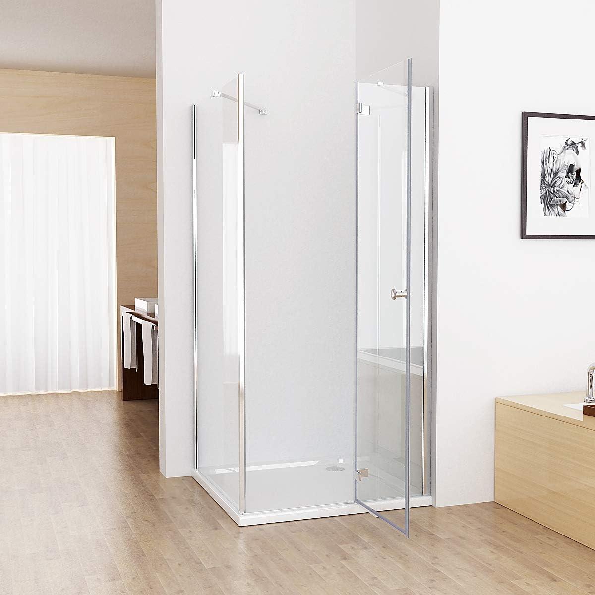 Cabina de ducha cuadrada de 100 x 75 x 195 cm, puerta de ducha, 75 ...