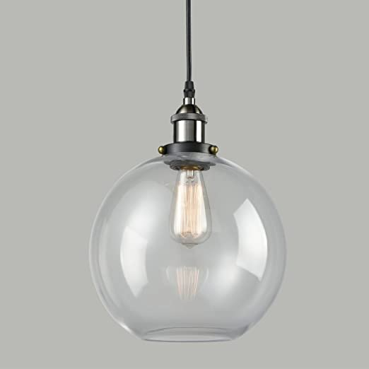 Claxy modern vintage industrial ball ceiling pendant light globe claxy modern vintage industrial ball ceiling pendant light globe glass shade aloadofball Choice Image