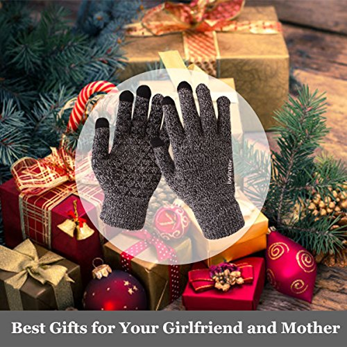 12221ee75ece6 Achiou Winter Knit Gloves Touchscreen Warm Thermal Soft Lining Elastic Cuff  Texting Anti-Slip 3