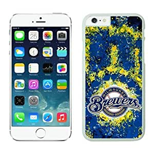 iPhone 6 Cover Case,Milwaukee Brewers TPU Rubber Phone Case For Apple iPhone 6 4.7 Inch Case 1 White