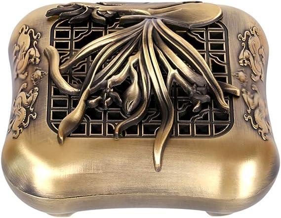 芳香器・アロマバーナー アンティーク香炉室内香合金炉ホームサンダルウッドトレイ香炉デスクトップデコレーション アロマバーナー芳香器