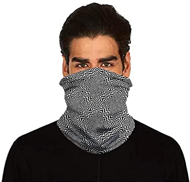 Scarf Bandanas Neck Gaiter with Safety Carbon Filters Multi-purpose Neck Warmers