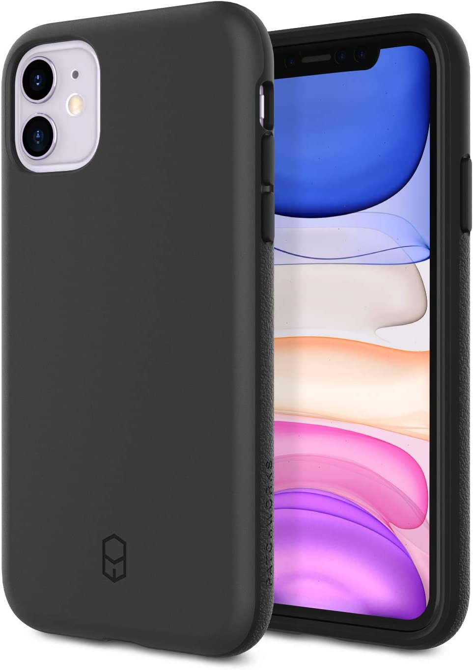 PATCHWORKS ITG Designed for Apple iPhone 11 4G Case 6.1 inch (2019) Ultra Slim Fit Thin Shockproof Hard Back Non Slip Stylish Matte Protective Phone Case Military Grade Drop Test - Black