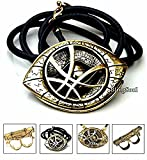 BlingSoul Doctor Strange Eye of Agamotto Amulet - Infinity Stone Necklace Gift (Medium)