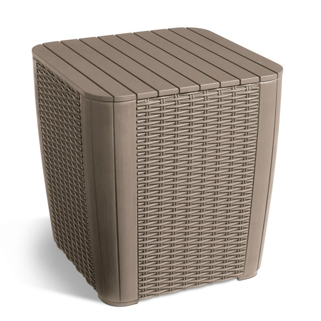 Allibert Garden Storage Table Box Footstool Extra Seat Waterproof Luzon 223933