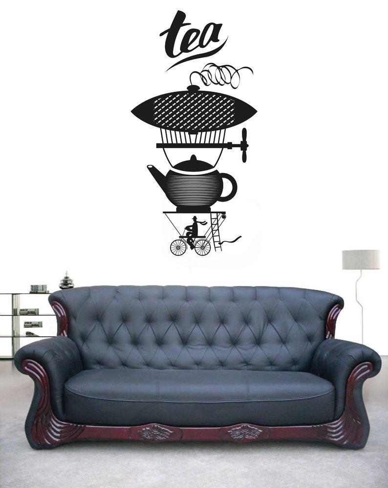 Amazon com ik1727 wall decal sticker coffee tea maker coffee shop restaurant home kitchen