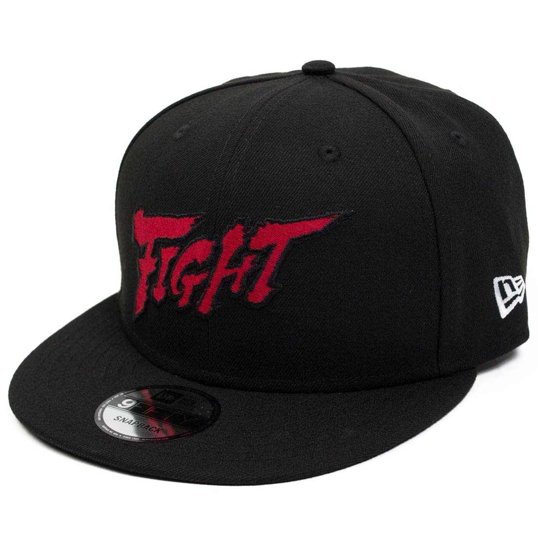 BAIT X Street Fighter X New Era Fight Snapback Cap Black