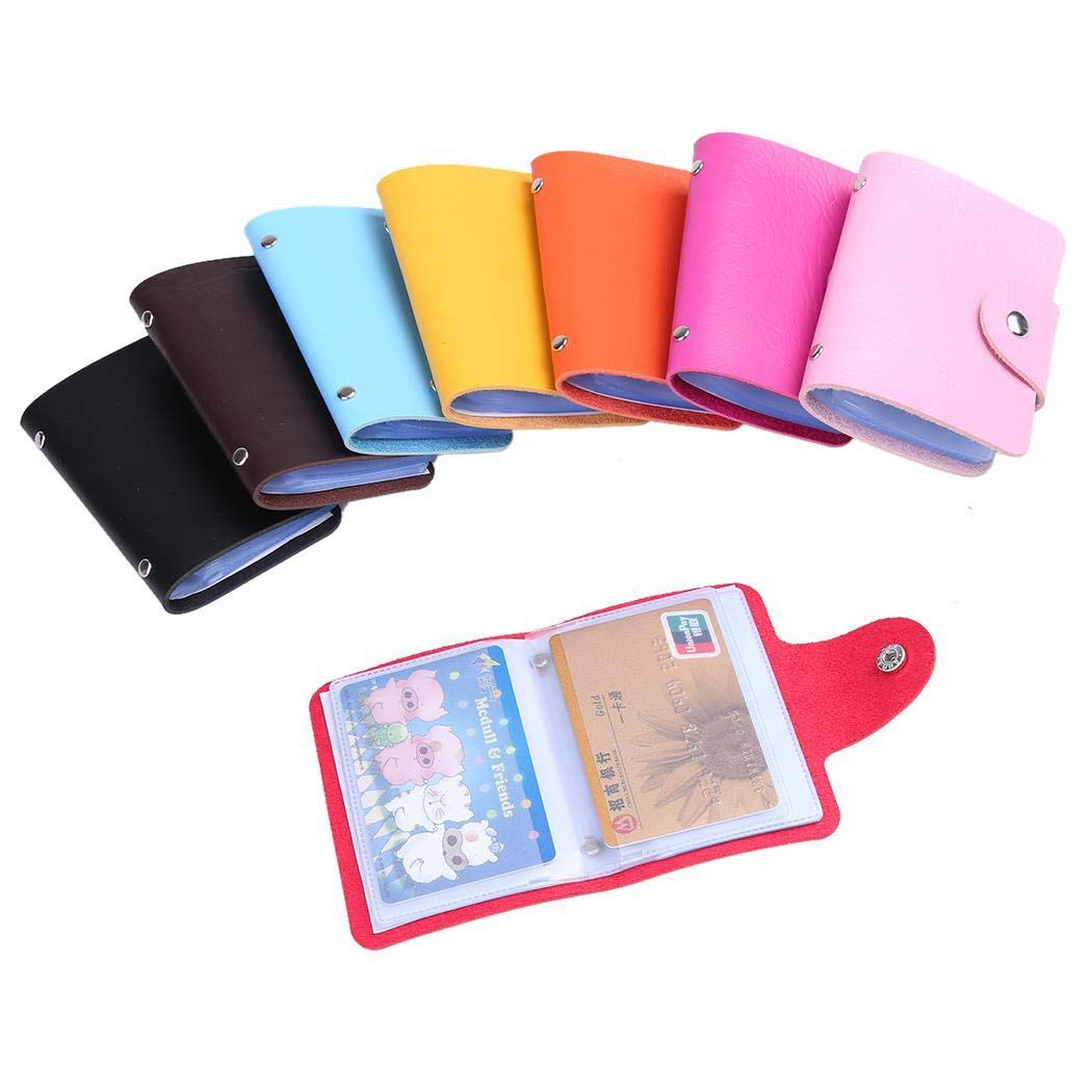 24 Cards Slots ID Credit Card Holder PU Leather Men Women Purse Wallet Pocket Case