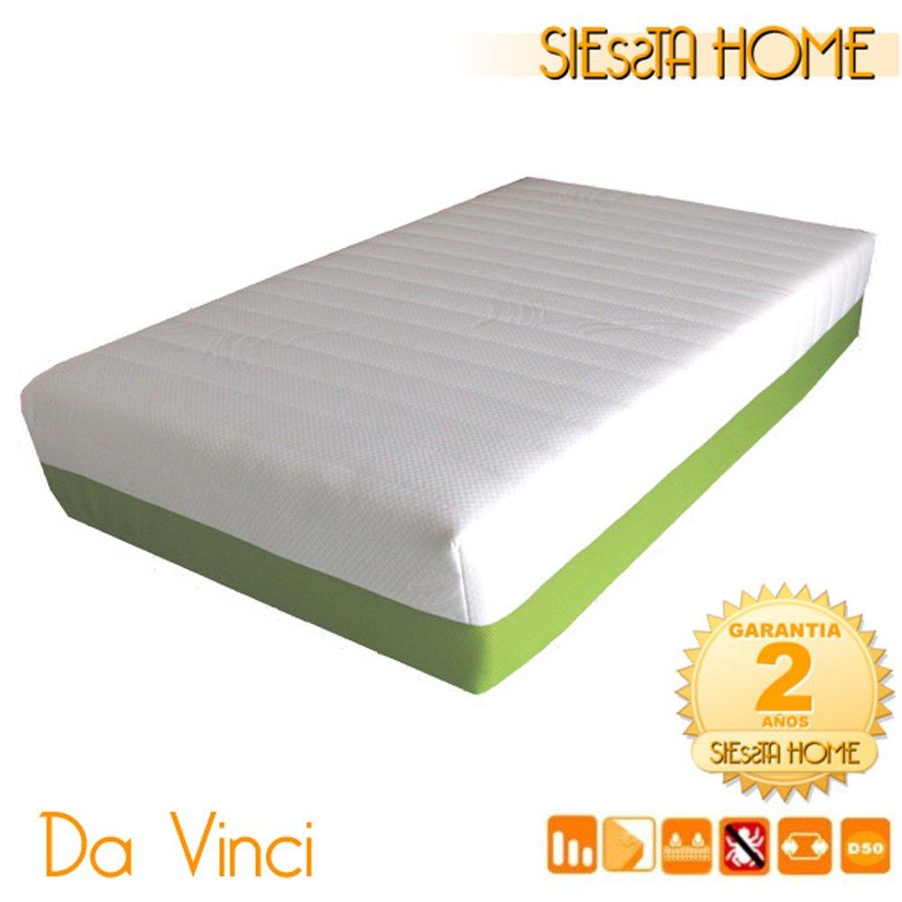 Siessta Home - Colchón viscoelástico Da Vinci de 21 cms (90 x 190 cms): Amazon.es: Hogar