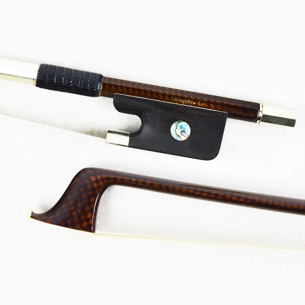 VINGOBOW 4/4 Size Diamond Carbon Fiber Cello Bow for Concerto Level, Art No.140C Vingobow Music
