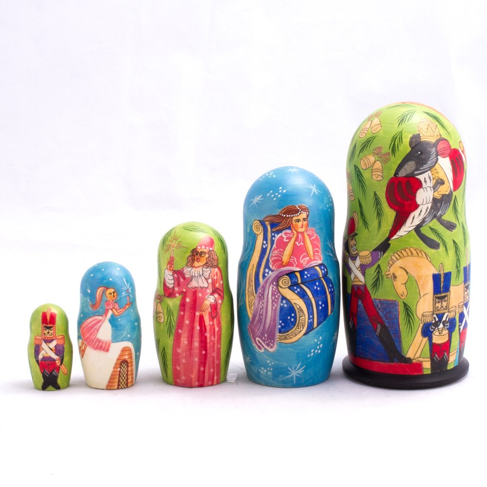 Books.And.More Nutcracker Ballet Nesting Dolls Set 5pcs Matryoshka Dolls by Books.And.More (Image #2)