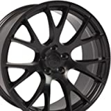 OE Wheels LLC 22 inch Rim Fits Dodge RAM Hellcat Wheel DG15 22x10 Black Wheel