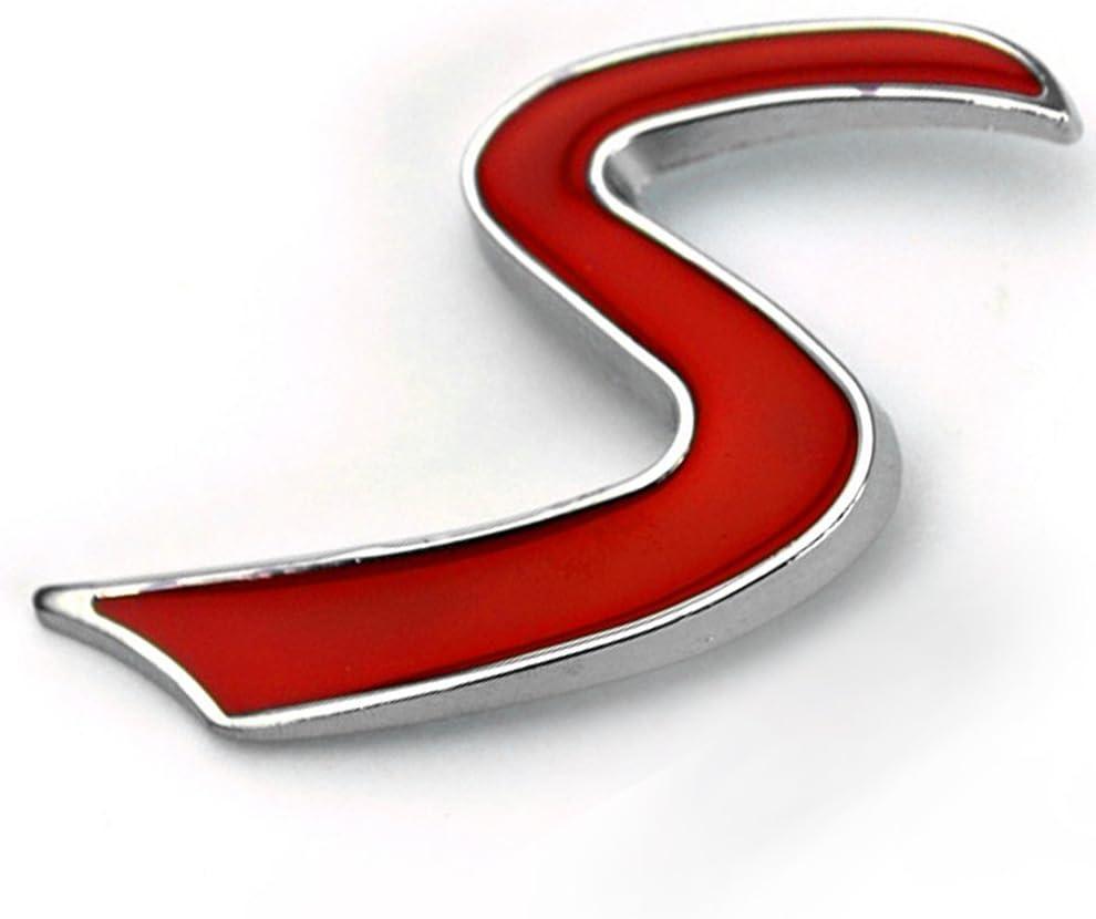 Emblem mit Beschl/ägen und Kofferraum-Emblem f/ür Mini Cooper S JCW Mini-Auto-Aufkleber f/ür K/ühlergrill Motorhaube MOOSUNGEEK Moosungek S Auto-Emblem