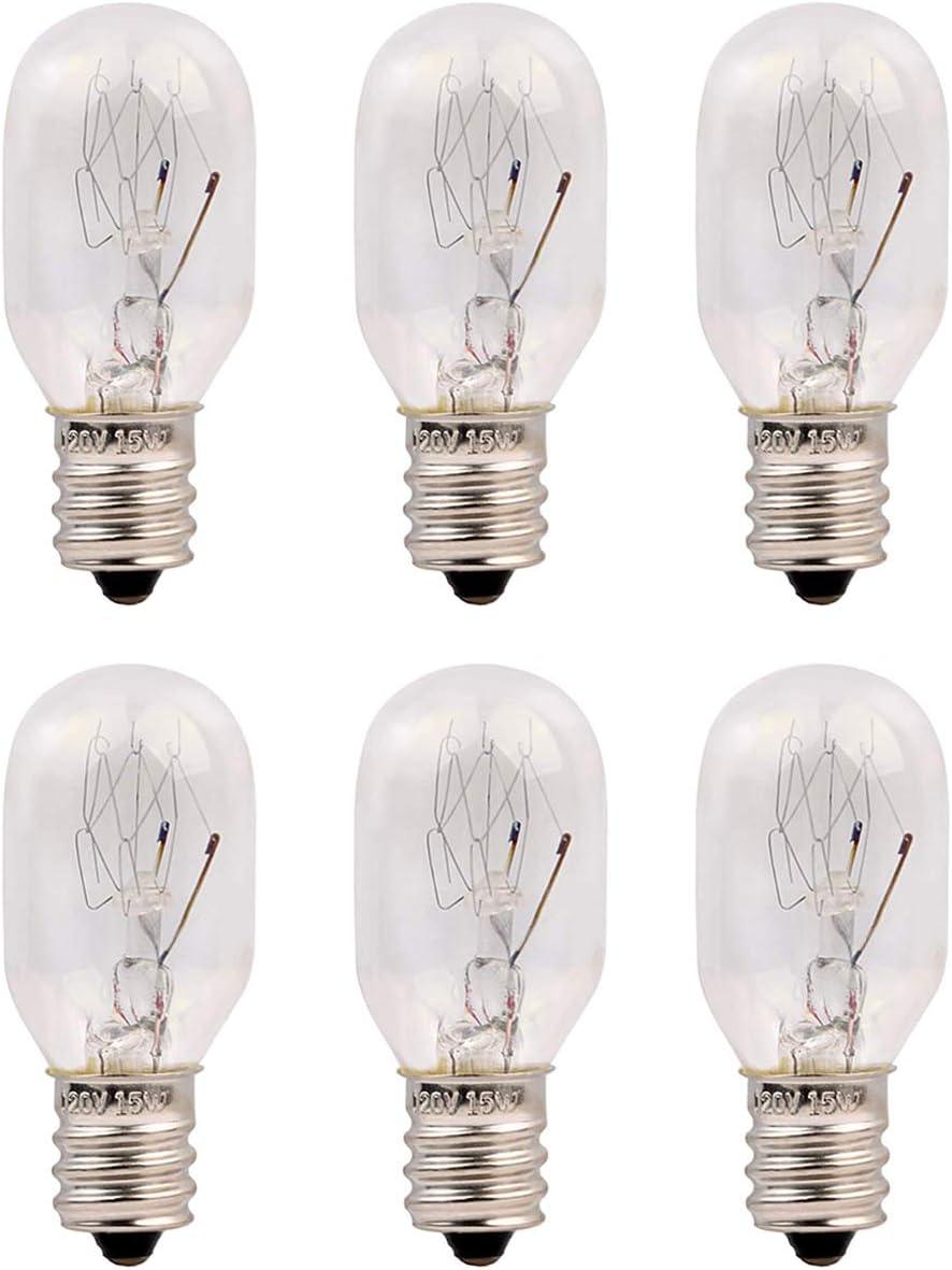 bombillas T20 E14 /ángulo de haz de 360 /° paquete de 6 bombilla incandescente blanca c/álida 230 V 240 V JINYU 6pcs Bombillas de sal de repuesto del Himalaya de 15 W bombillas T20 de 220 V