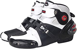 NEW Men's Motorcycle Racing Boots White US 10