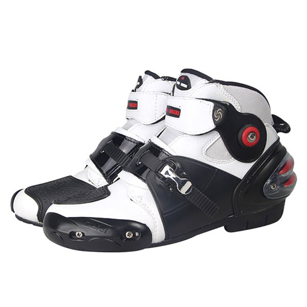 NEW Men's Motorcycle Racing Boots White US 10.5