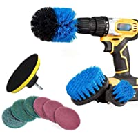 Leorealko 10Pcs/Set Tile Grout Power Scrubber Cleaning Drill Brush Kit Scrub Tub Cleaner Tools