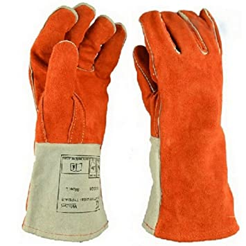 Heavy Duty Thick Welding Gloves, Flexible Sturdy Large Fireplace ...