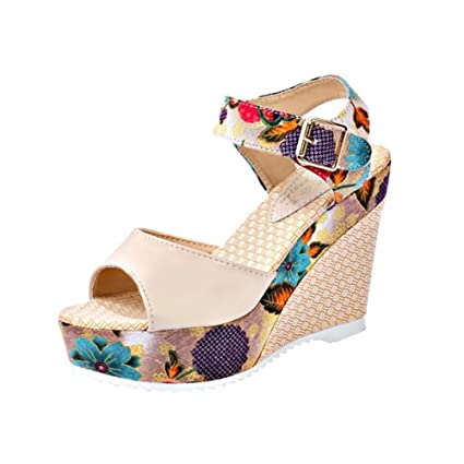 abf0953fdba Women s Shoes 2018 New Slope with Europe and The United States Wind Sandals  Female Open-
