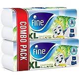 لفائف الحمام فاين طويلة جدا - عبوة من 10 بكرات (10 × 400 ورقة × طبقتين)