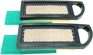 MOWFILL 2 Pack 697153 Air Filter Replace for Briggs Stratton 697014 697634 698083 794422 795115 797008 OEM Air Cleaner Cartridge with 697015 Pre Filter Fits Lawn Mower Air Cleaner Element