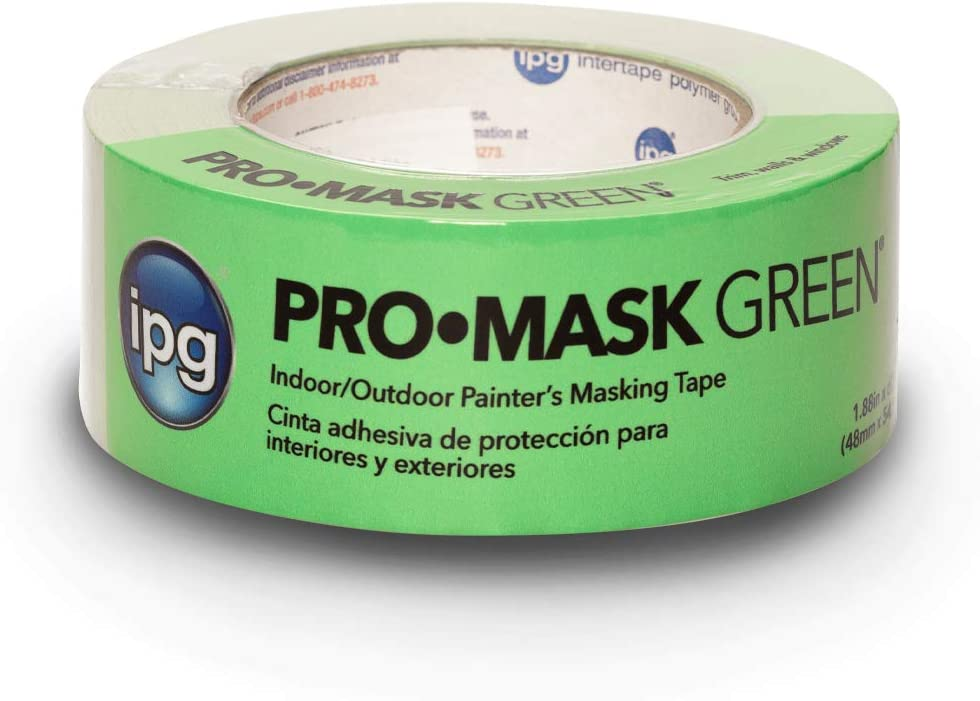 """IPG ProMask Green, 8-Day Painter's Tape, 1.88"""" x 60 yd, Green, (Single Roll)"""
