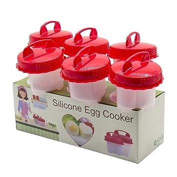 Cocina de huevos de silicona, moldes de silicona, para huevos duros y suaves,