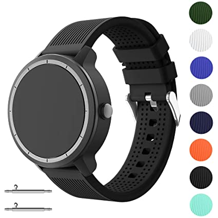 Yayuu Compatible Correa Garmin Vivoactive 3 Silicona Correa de Repuesto Ajustable para Garmin Vivoactive 3/Samsung Galaxy Active/Samsung Watch 42mm