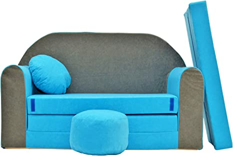 Spielsofa 3H Kindercouch 3in1 Doppelsofa Minisofa Kinder Sofa Couch gemütlich