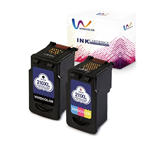 Vividcolor Remanufactured Canon PG 210XL 210 CL 211XL 211 Ink Cartridge PIXMA MP495