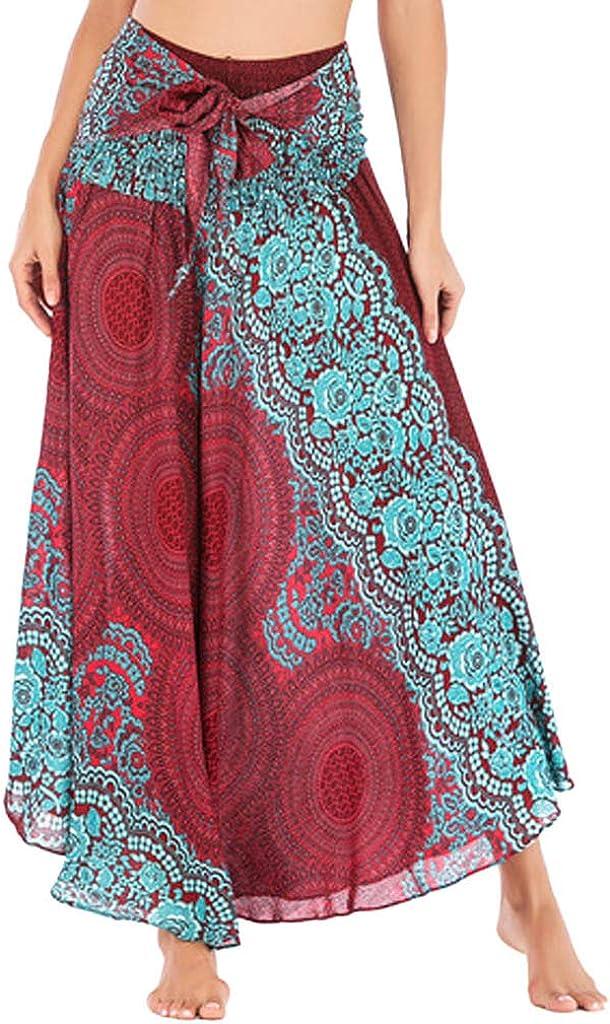 FAMILIZO Faldas Largas Y Elegantes Faldas Cortas Mujer Verano Faldas Mujer Primavera Vestidos Mujer Hippie Bohemia Gitana Boho Flores Elástico Cintura Floral Halter Falda