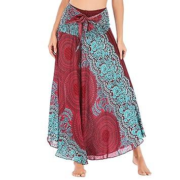 Hotcl_🌸 Clearance Women Skirt Maxi Falda 2 en 1 y Vestido Midi ...