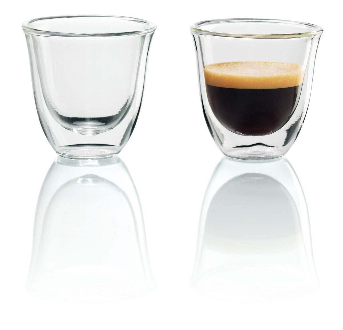Delonghi 5513214591 Espresso Thermo Glasses - Pack of 2 5513214591_N/A