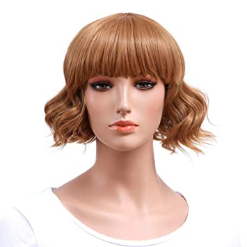 Amazon Com Fashion Daily And Halloween Cosplay Blonde Wig Short