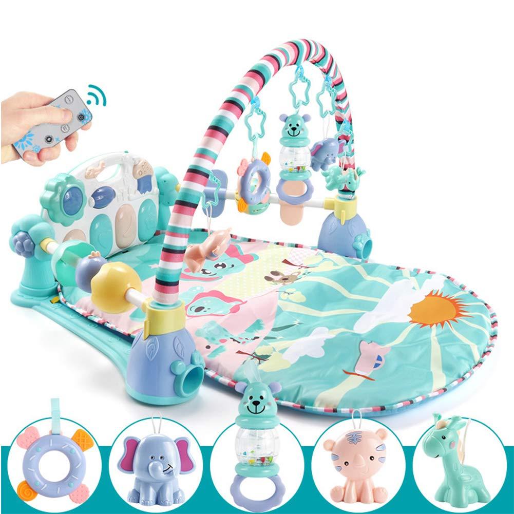 ベビージム ベビークロールマット 生まれたばかりの赤ちゃんのおもちゃギフト リモコン 食品グレードの材料   B07TGHRXZV